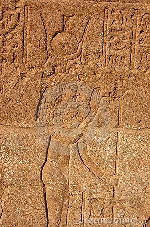 Isis carving