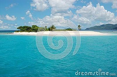 Isla del paraíso en turquesa