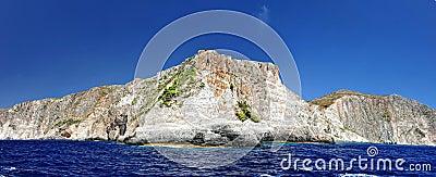 Isla en el mar jónico, Zakynthos.