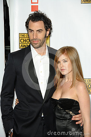 Isla Fisher,Sacha Baron Cohen Editorial Image