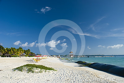 Isla Mujeres beach in Cancun, Mexico