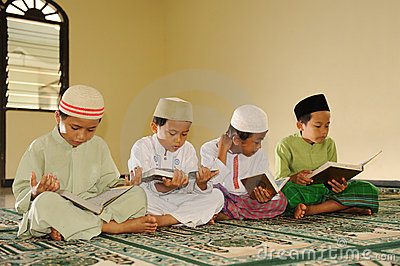 Islam  Kids Reading Koran