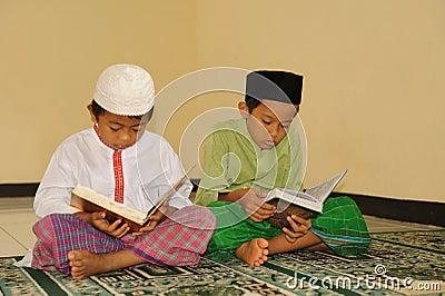 Islam  Kids Reading Koran