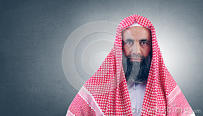 Islamic Arabian Sheikh with beard