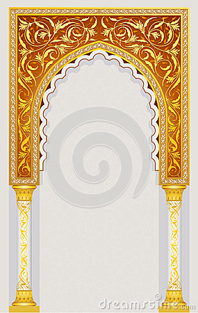 High detailed islamic arch design in vector illustration.