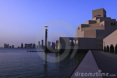 Islamic art museum sunset