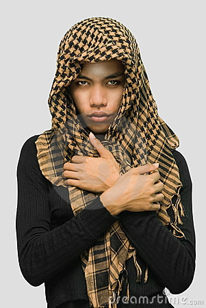 Islamic Asian girl with scarf