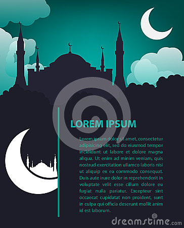 Islamic design template stock vector image 45738061 for Muslim will template