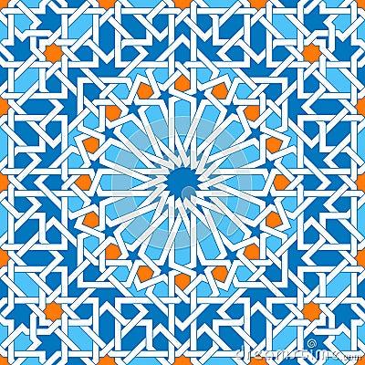 Free Islamic Geometric Ornaments Based On Traditional Arabic Art. Oriental Seamless Pattern. Muslim Mosaic. Mosque Decoration Stock Photography - 82065802