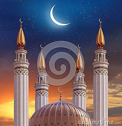 Free Islamic Greeting  Eid Mubarak Cards For Muslim Holidays.Eid-Ul-A Stock Photos - 91650743