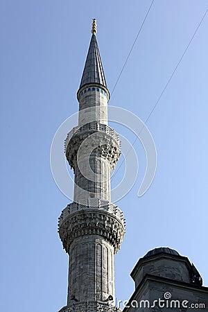 Islamic Minaret on a Mosque