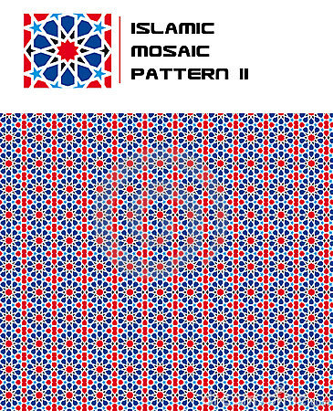 Free Islamic Mosaic Color Seamless Pattern Royalty Free Stock Photography - 15703257