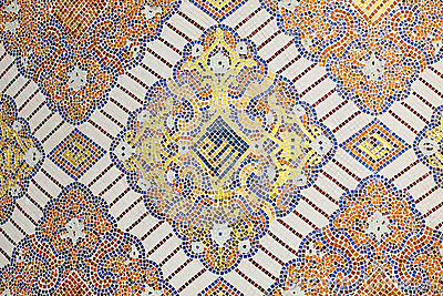 Islamic mosaic decoration