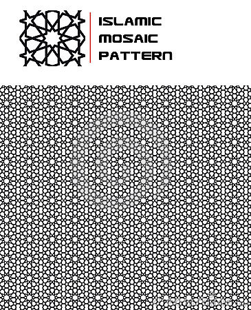 Free Islamic Mosaic Seamless Pattern Royalty Free Stock Images - 15703279