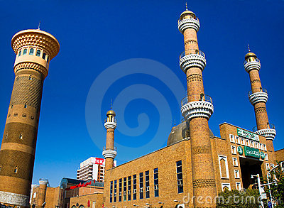 Islamic mosque in Urumqi, Xinjiang China Editorial Photo