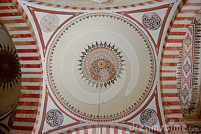 Islamic pattern in mosque