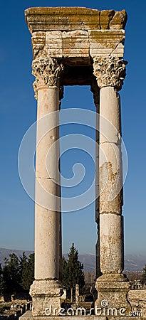 Islamic Ruins in Anjar Lebanon