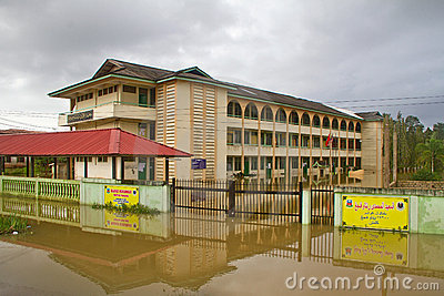 Islamic School in Flood Editorial Image