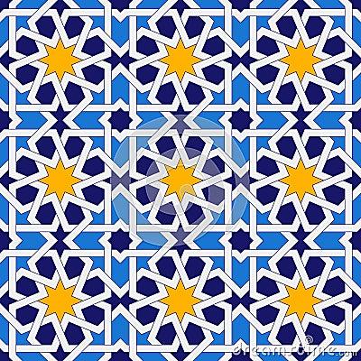 Free Islamic Seamless Pattern. Oriental Geometric Ornaments, Traditional Arabic Art. Muslim Mosaic. Mosque Decoration Element Royalty Free Stock Images - 81105359