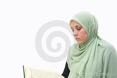 Islamic woman Koran