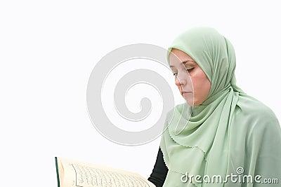 Islamic woman Koran
