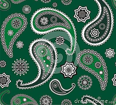 Islamitische Paisley groene patroontextuur
