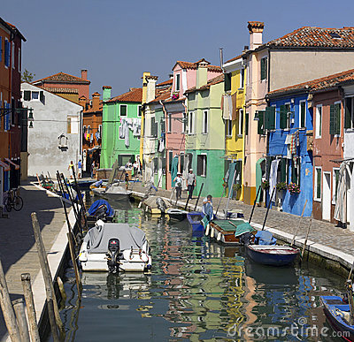Island of Burano - Venice - Italy Editorial Stock Photo