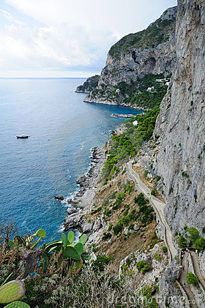 Island of Capri Coastline - Italy