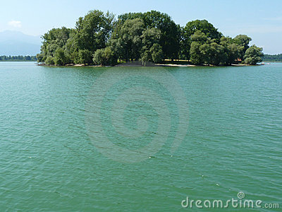 Island in Chiemsee lake