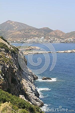 Island Crete coast