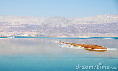 Island in the dead sea