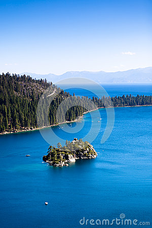Island in the Emerald Bay
