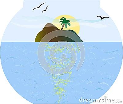 Island in fishbowl