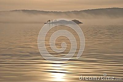 Island in the fog. (3)