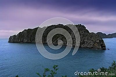 Island in Ha Long Bay.