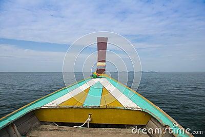 Island Heading Boat