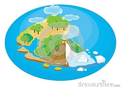 Island Illustration Stock Image - Image: 7314561