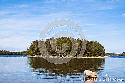 The island on the lake
