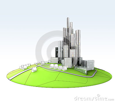 Island landscape of sustainable city development