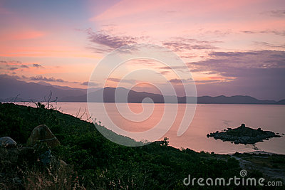 Island In Middle Of Water During Golden Hour Free Public Domain Cc0 Image