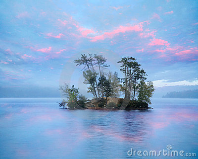 Island In Moose Pond