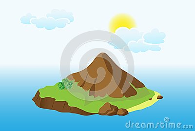 Island with mountain