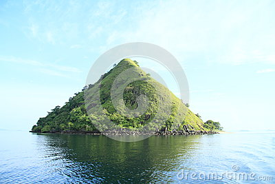 Island with the mountain