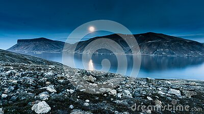 Island Mountain Near Rock Formation During Night Time Free Public Domain Cc0 Image