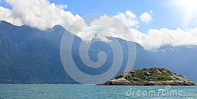 Island at the ocean