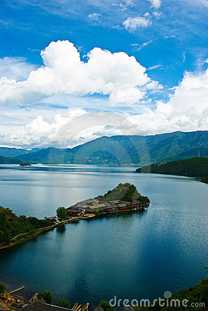 Free Island Of Lugu Lake Stock Photos - 15540143