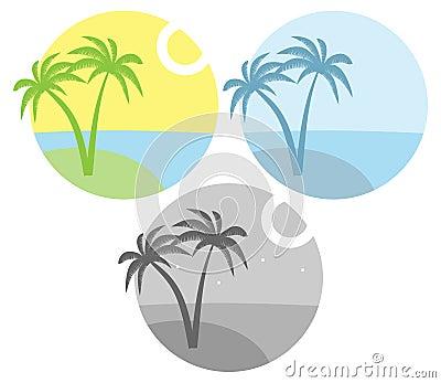 Island with palm tree