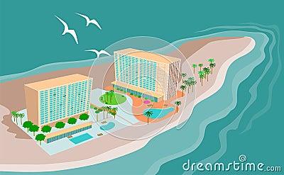 Island paradise beach resort