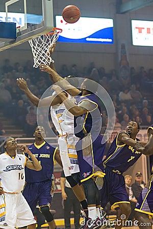Island Storm Basketball Editorial Photo