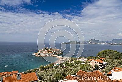 Island of Sveti Stefan in Montenegro.